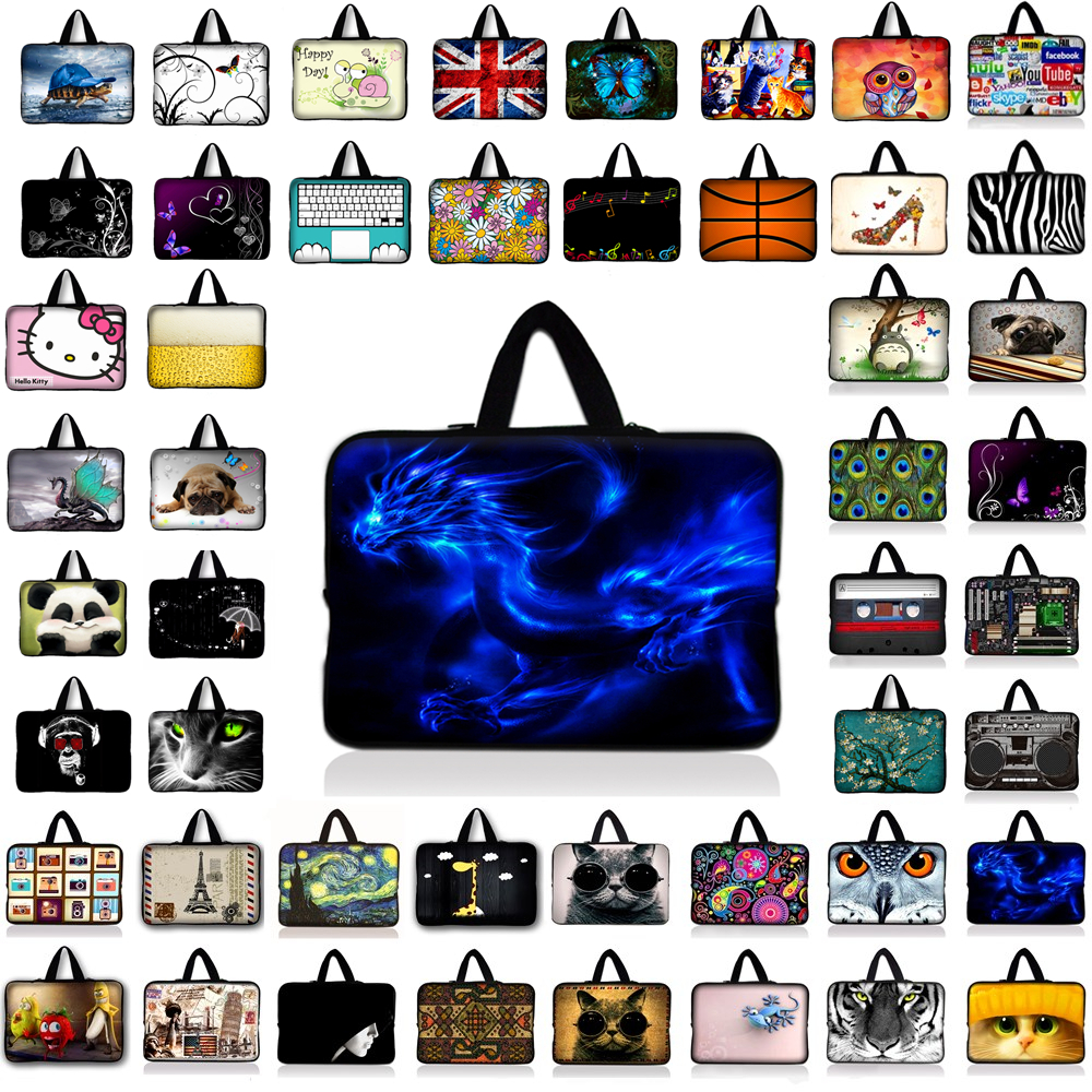7 10 12 13 14 15 17 Neoprene Laptop Bag Tablet Sleeve Pouch For Notebook Computer Bag 13.3 15.4 17.3 For Macbook Air / Pro B1