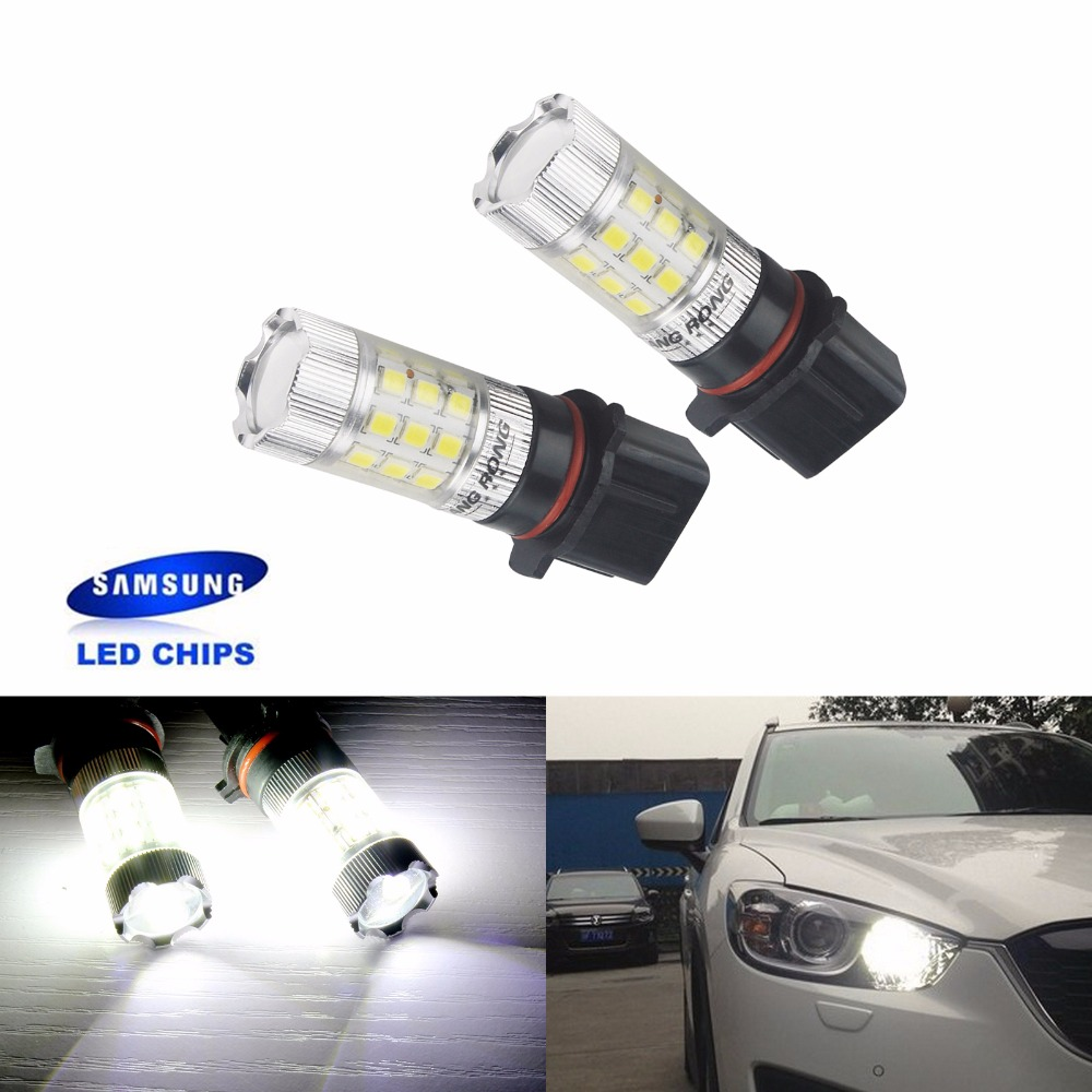 ANGRONG 2x P13W PSX26W Bulb 30 SMD SAMSUNG LED Projector Fog Lamp Daytime Light DRL White(CA268x2)