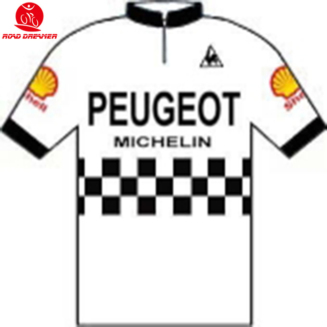 bf92c92e3 Tour de France 1983 Peugeot-Shell-Michelin Retro cycling jersey Short  sleeved clothes mtb maillot jersey maillot camisa ciclismo