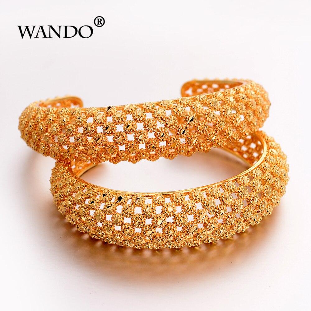 WANDO 2pcs Dubai Gold...