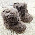 Del Cabrito del bebé de Punto Botas de Piel de Nieve 5 Color Niños Soft Sole Botas Cortas Shoes0-18 Meses