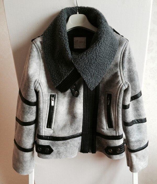 font b women s b font fashion thicken warm faux leather fur fleece lining short