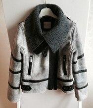 women's fashion thicken warm faux leather fur fleece lining short design motorcycle jacket windbreaker outwear