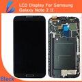 LL COMERCIANTE 100% Testado AA Preto LCD Substituição Da Tela de Toque para samsung galaxy note 2 n7100 lcd digitador completo montagem