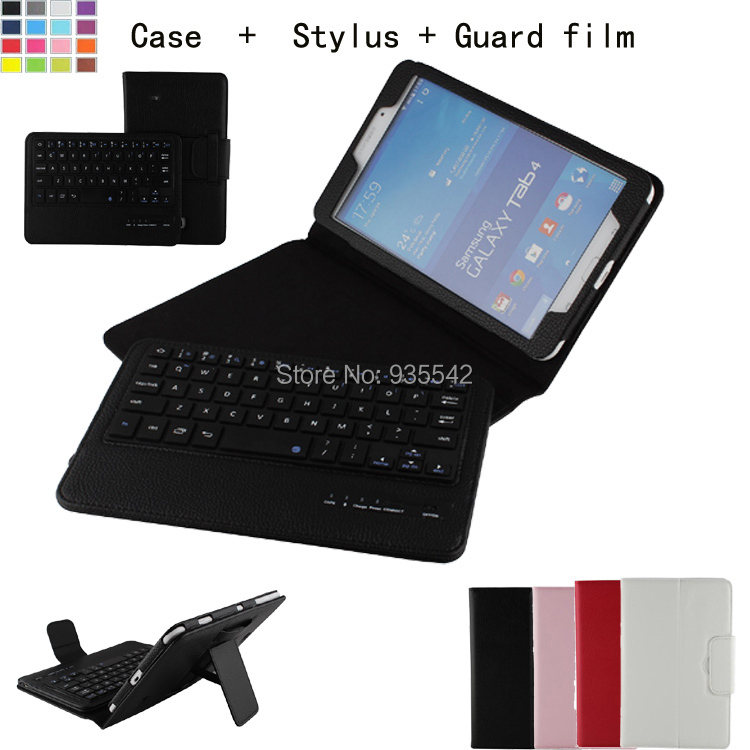 ФОТО For Samsung Galaxy Tab 4 8.0 Inch T330 Tablet Detachable ABS Bluetooth Keyboard Portfolio Leather Ultra Slim Stand Case Cover