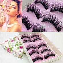 5/10Pair Natural Thick False Eyelashes Makeup 3D Mink Eyelashes Extensions False Eyelashes for Building Eye Makeup Beauty Tools недорого