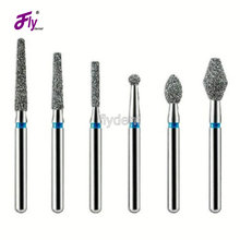 Dental diamond bur 100pcs/lot dental materials polishing tools tooth preparation dental lab bur dental equipment