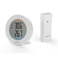 Baldr LCD termometr cyfrowy elektroniczny miernik temperatury kryty na zewnątrz z stojak termometr bezprzewodowy czujnik w Wskaźniki temperatury od Dom i ogród na