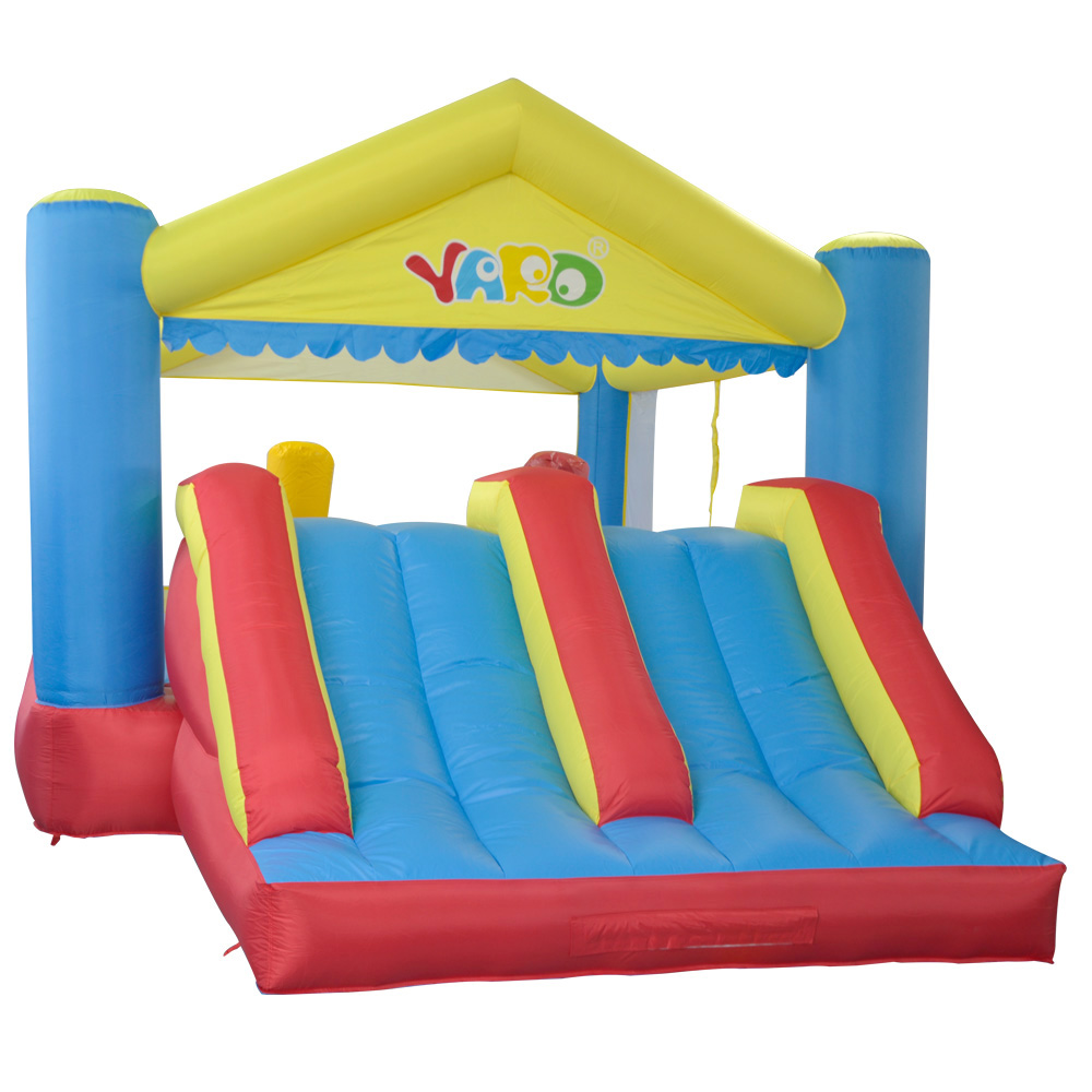 YARD Kids Outdoor Play Inflatable Trampoline with Slide Jumping House for Children Toys Inflatable Bouncer for Outdoor Sports inflatable slide with pool children size inflatable indoor outdoor bouncy jumper playground inflatable water slide for sale
