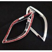 Glossy Silver Chrome Rear Fog Lights Lamp Mask Cover Trim for Mazda CX-5 CX5 12 13 14 15 New 2Pcs Car ABS Plastics