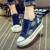 2017 nova moda primavera verão mulher sapata de lona denim sapatos casuais mulher alta-salto alto altura crescente zapatos tamanho 40