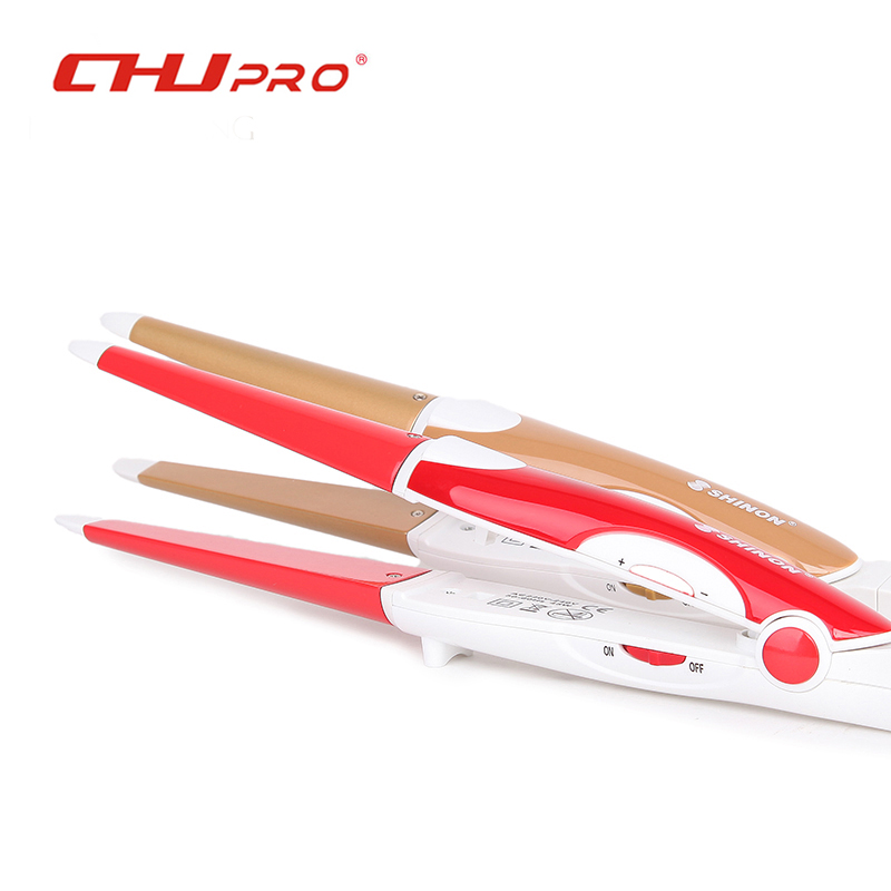 CHJ Hair Straightener Professional Flat Iron 2in1 Ionic Straightening Iron Curler Styling Tool Ceramic Curling Irons SH-8976 km 2209 professional hair flat iron curler hair straightener irons 110v 220v eu plug tourmaline ceramic coating styling tools