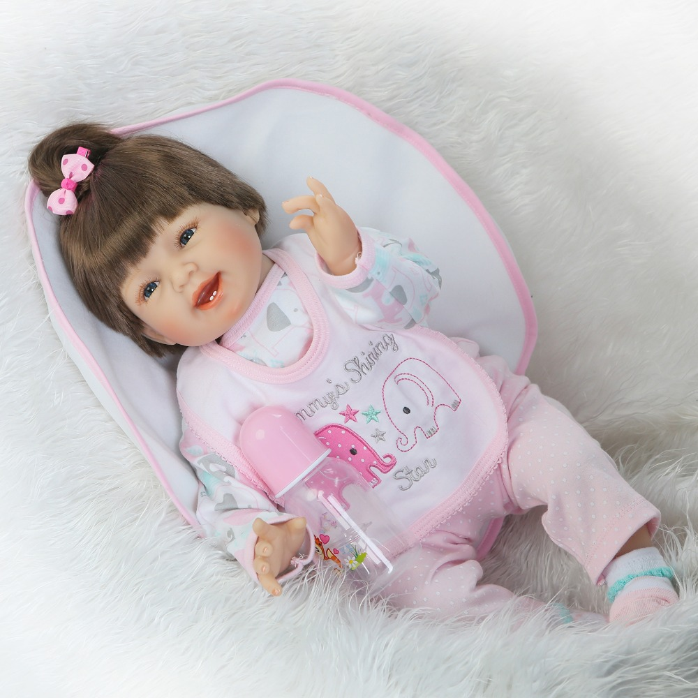 2255cm reborn silicone babies dolls smiling girl doll baby reborn toys For kids bonecas Baby fashion cute Doll Best Gifts toys2255cm reborn silicone babies dolls smiling girl doll baby reborn toys For kids bonecas Baby fashion cute Doll Best Gifts toys