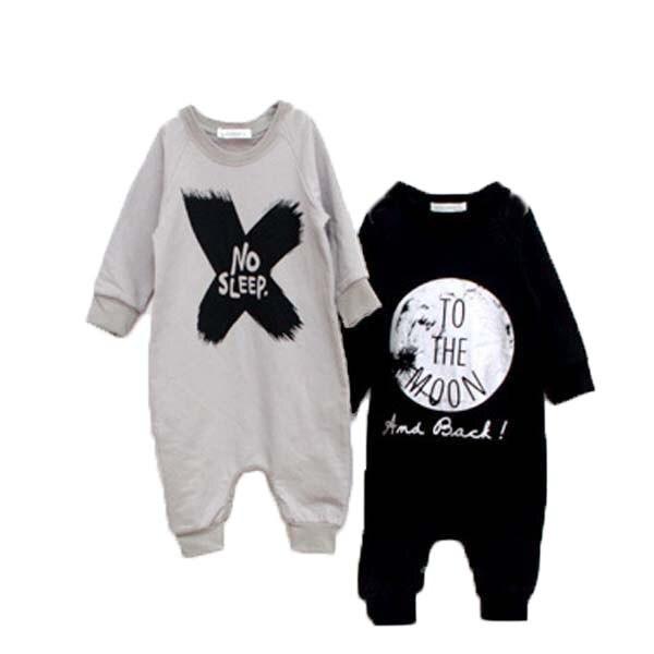 be5285c058b9 Baby Boys Girls Rompers NO SLEEP Infant Girl Boy Romper For Children ...