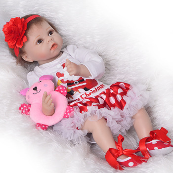 Bebes reborn soft silicone reborn baby dolls 22inch 55cm lovely children gift doll girls toys reborn boneca reborn