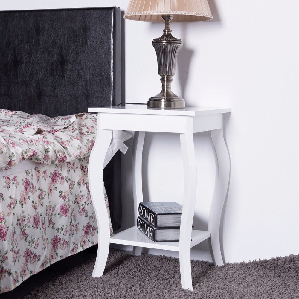 Goplus Accent Side Table Sofa End Table Modern Night Stand Living Room Coffee Table with ...