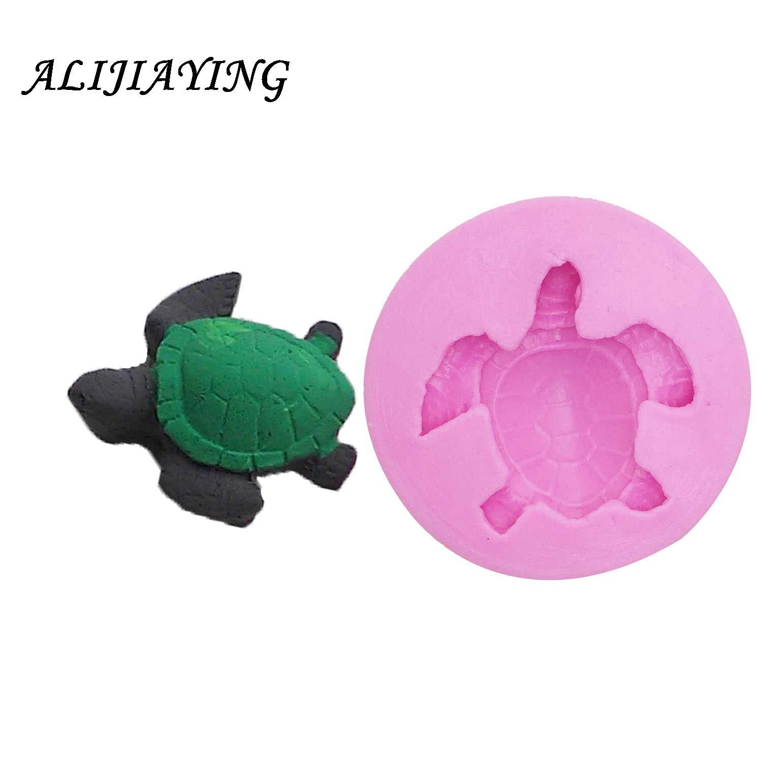 1Pcs Sea turtle Silicone Molds Fondant Paste DIY Tortoise Silicone cake  Decorating tools Chocolate Resin Clay Soap Mold D1024