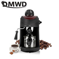 Dmwd mini máquina de café espresso 5bar bomba italiana pressão vapor espuma espuma espuma espuma máquina automática fantasia cappuccino pote|coffee makers italian|coffee maker|mini espresso -
