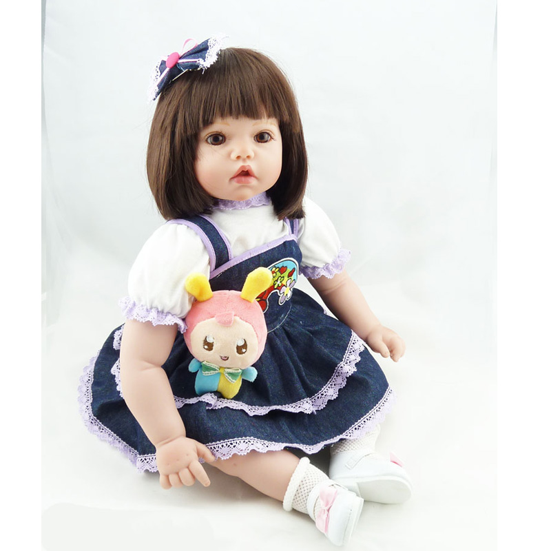 2018 New 20 50cm Realistic Baby Reborn Doll Reborn Babies Silicone Adora Lifelike Baby Dolls Kids Growth Birth Reborn Juguetes 55cm doll reborn babies silicone lifelike realistic baby dolls kids growth partners birth reborn kids birthday gifts reborn doll