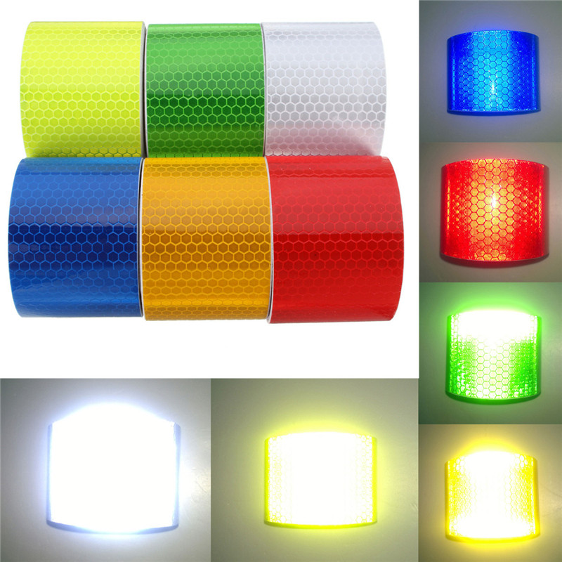 1pcs waterproof pure color reflect light safety security caution 1pcs waterproof pure color reflect light safety security caution reflective tape warning tape sticker self adhesive tape in warning tape from security aloadofball Choice Image