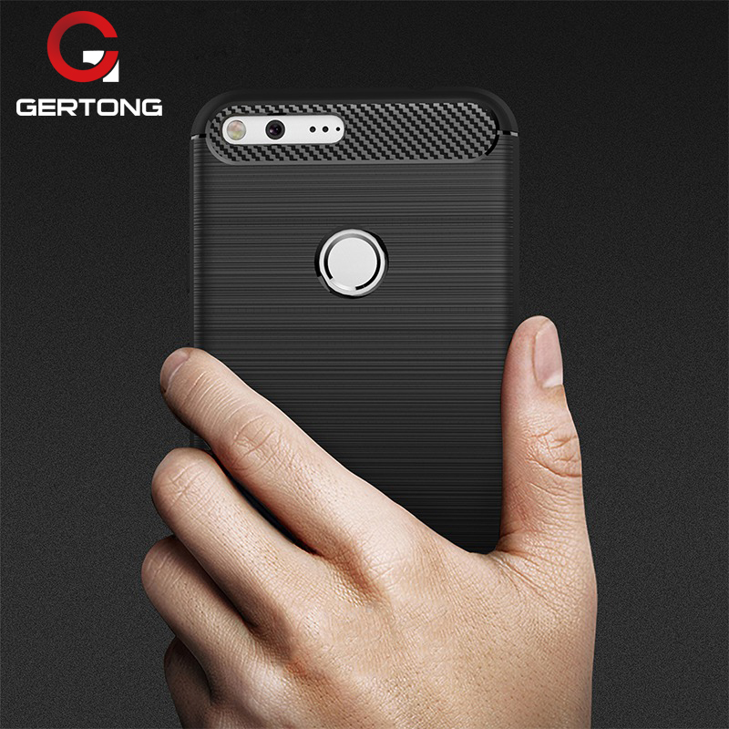 GerTong Case for Google Pixel XL Cover Phone Case Soft TPU Protective Shell for Google Pixel Luxury Carbon Fiber Capa Coque