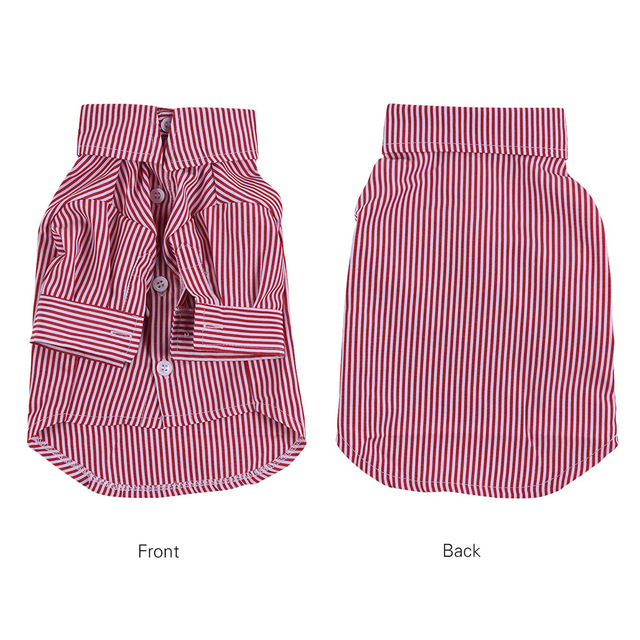 9a3704cbba6d Pet Dog Striped Shirt Clothes Underwear Gentleman Cute Puppy Costume  Supplies Soft Cotton for Small Animals Puppy Dog Clothes
