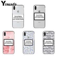 Yinuoda Phương Tiện Truyền Thông Xã Hội Nghiêm Trọng Gây Hại Của Bạn Tâm Thần Hoa Văn TPU Mềm Mại Dành Cho iPhone X XS XR XSMax 6 6S 7 7Plus 8 8Plus Xs 5 5s