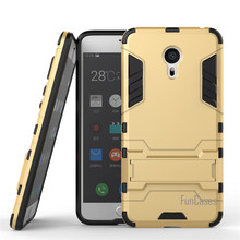 For Meizu Pro 6 Case 5.2inch Dual Layer Hybrid Rugged Armor Hard PC+TPU Shockproof With Kickstand Case For Meizu Pro 6(China)