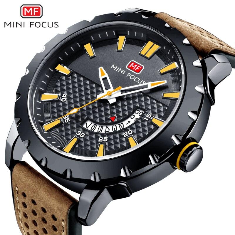 Minifokus Männer Der Armbanduhr Quarz Uhr Männer Wasserdichte Lederband Herren Uhren Top Brand Luxus Relogio Masculino Männlich Uhr