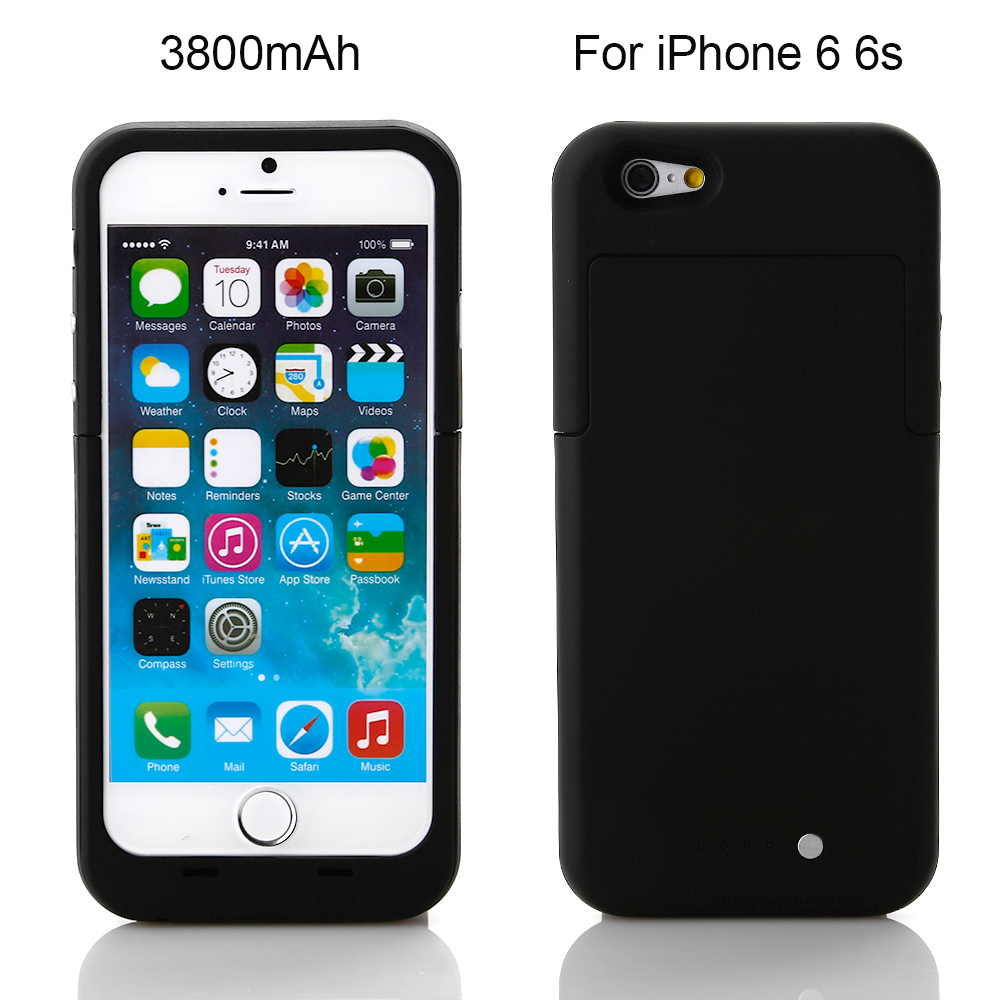 bilder für Neue 3800 mah Wiederaufladbare Externe Unterstützungsbatterie-kasten Bewegliche Energienbank Fall Abdeckung für iPhone 6 6 s Handy ladegerät Fall