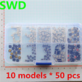 10 models 500 pcs Tactile Push Button Switch Micro Switch Car remote control button switches