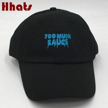 El rapero cosido demasiado salsa gorra de béisbol no estructurado bordado mujeres hombres padre snapback sombrero verano sun bones