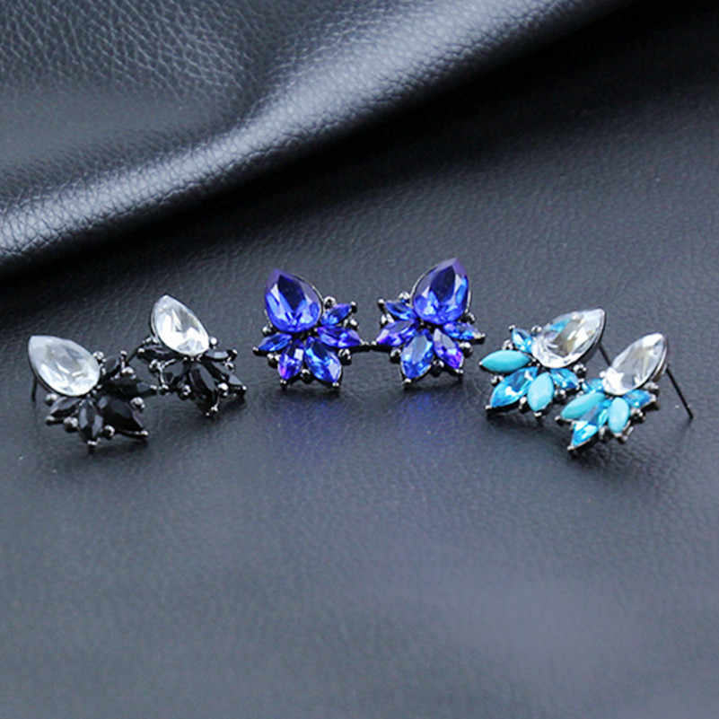 Women Earrings Water Drop Crystal Earrings 3 Colors 2017 Simple Long Earrings For Women Charm Fashion Jewelry Bijoux e0223