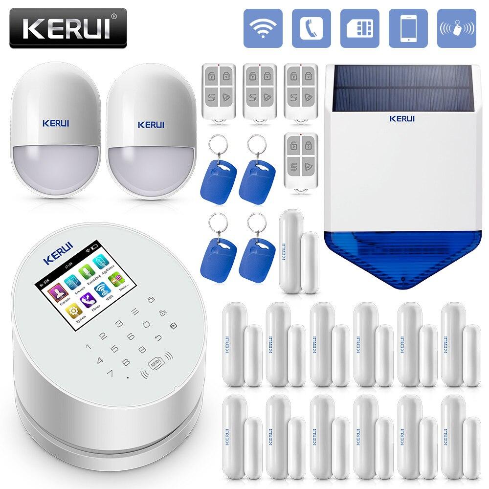 Охранная домашняя система охранной сигнализации KERUI W2 WiFi GSM PSTN