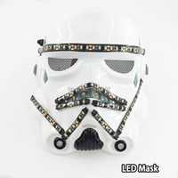 LED Star Wars Mask LED Strip Purge DJ Masquerade Payday Masks For Halloween Movie Theme Cosplay Glow Party Supplies By DC3V
