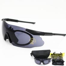 Marka mężczyźni okulary wojskowe spolaryzowane 3 5 soczewki okulary ochronne Tactical Army gogle Outdoor polowanie Combat Wargame tanie tanio CN (pochodzenie) uv400 35mm iceer MULTI 140mm Z poliwęglanu Unisex Octan Eyewear Cycling