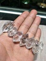 Принимаем дропшиппинг натуральный herkimo алмазный камень сверкающий белый кристалл двойной острый грубый камень зерна браслет