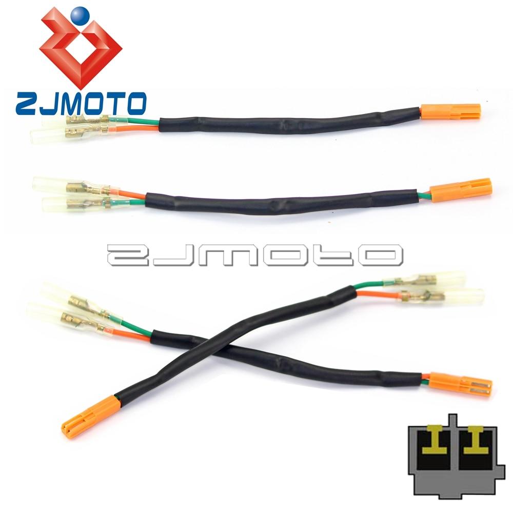 4 pcs motorcycle rear turn signal wiring adapter plugs for honda rh aliexpress com