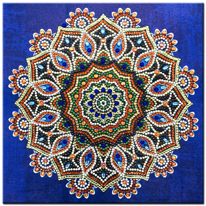 RUBOS DIY 5D Diamond Embroidery Mandala Sun Triptych Diamond Painting Multi Picture Rhinestones Pearl Big Mosaic Sale Wall Decor (35)