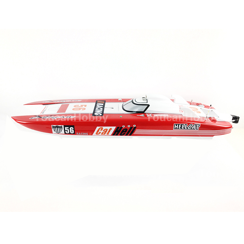 G30E ARTR FiberGlass Gasoline RC Racing Boat 30CC Engine Water Cooling Sys Red cnc aluminum water cooling jacket for 29cc zenoah engine rc boat