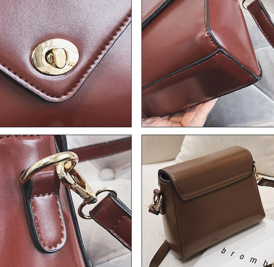 European Fashion Retro Ladies Square bag 2018 New High quality PU Leather Women's Designer Handbag Lock Shoulder Messenger Bags 6
