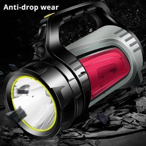 Image 5 - 1200 m brillante potente LED reflector portátil linterna banco de potencia 4400 mAh batería recargable antorcha impermeable al aire libre