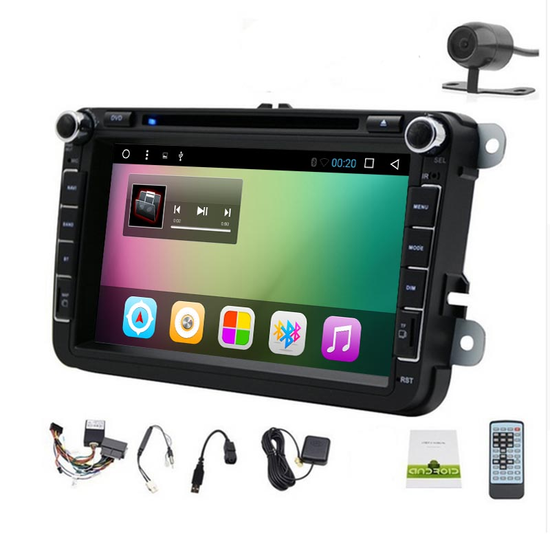 8Inch 2Din Android 6.0 Car DVD Player GPS For GOLF 6 Polo Bora JETTA B6 PASSAT Tiguan SKODA OCTAVIA (DTV DAB+ Optional) 4G WIFI