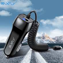 RAXFLY Dual USB Car Charger Output 5V 2.1A Car-charger For iPhone X 8 Phone Lighter DC 12-24V Adapter for Samsung S9 S8 Xiaomi