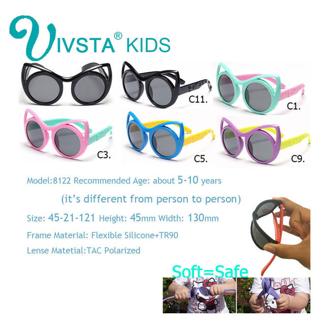 2353611bf7f Online Shop IVSTA Small cats Cat eye Sunglasses Kids Girls Sun Glasses  Polarized Cute Polarized Lenses Pink Color birthday gift