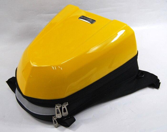 Haute qualité! moto ATV vélo coquille dure siège arrière sacs Motocross course sac jaune
