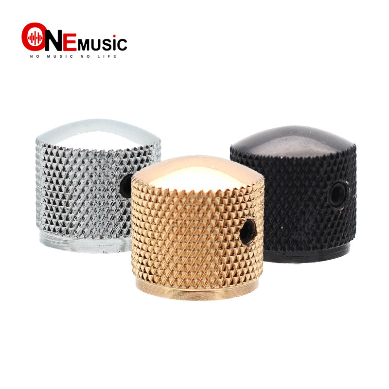 4pcs Metal Dome Tone Tunning Knob with Hexagon Screws Lock Volume Control Buttons for Electric Guitar Bass Black/Chrome/Gold for electric guitar tone knobdome knob - AliExpress
