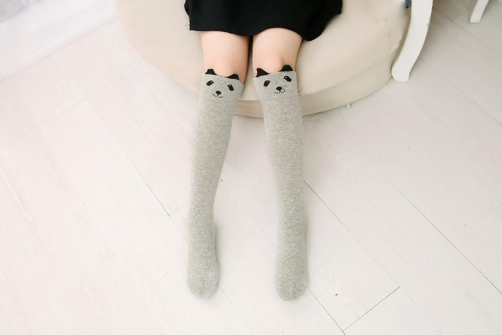 2017 Nowa Wiosna Jesień Dzieci Skarpetki Bawełniane Drukowanie 3D Kot Moda Cartoon Niedźwiedź Taniec Skarpetki Maluchy Dziewczynek Knee Socks 6