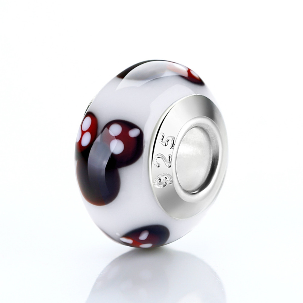 pandora murano charm sterling crystal glass beads authentic zircon solid flower diy item bracelets with from lampwork in core silver jewelry bangles beautiful bead fit