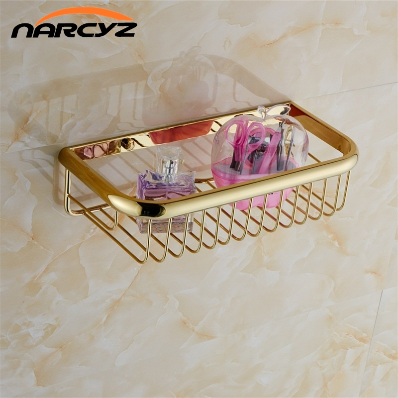 Bathroom Shelves Shampoo Holder 30cm Wall Mounted Strong Brass Made ...